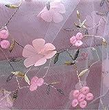 CHWK 3D Tüll Chiffon Flower Lace Stoff für Kleid, Mesh