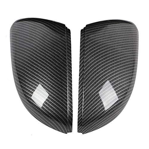 Outbit Rückspiegelabdeckung - 2 Stück Carbon Style Rückspiegelabdeckung Trim Fit für 5KO857537 5KO857538