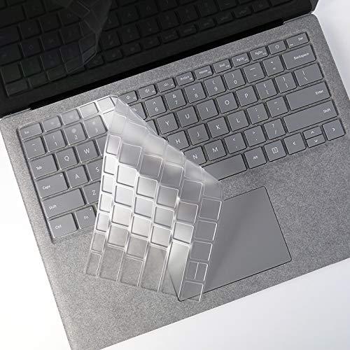 DolDer Silikon Tastaturschutz kompatibel mit Surface Laptop 3 QWERTY, Hauchdünner Tastatur Schutzfolie Cover Haut Layout