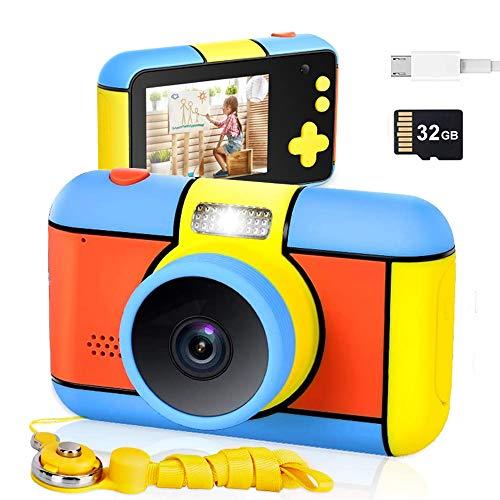 Cenblue Kinderkamera,2800 W HD-Pixel Digitalkamera 2,4'' Bildschirm Selfie Kinder Kamera,1080P HD Videokamera und 32GB Speicherkarte Digitalkamera Spielzeug Geschenk für Kinder