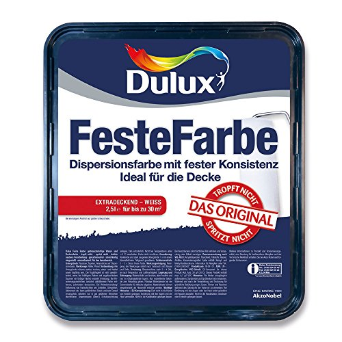 Dulux Feste Farbe Wand- und Deckenfarbe, Extradeckend Weiß