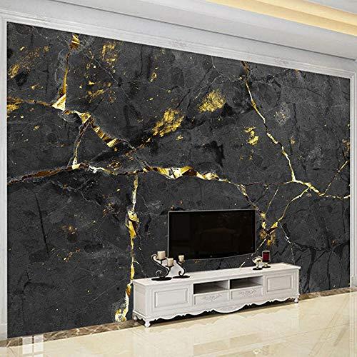 Personalizar cualquier tamaño Papel tapiz De pared 3D Papel tapiz De mármol dorado negro Sala De estar TV Sofá Dormitorio Luz Lujo Fresco Papel De Parede