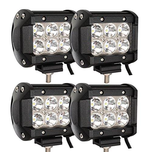 VINGO 4X 18W LED Scheinwerfer Flutlicht Rückfahrscheinwerfer IP67 Wasserdicht Arbeitsscheinwerfer 12V 24V [Energieklasse A++]