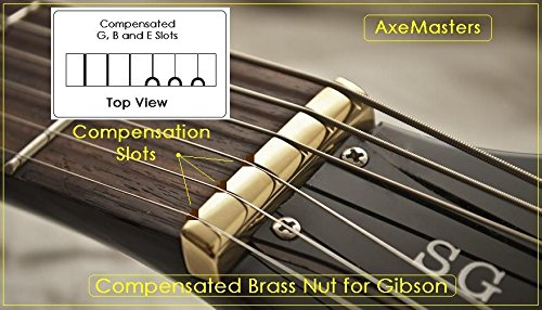 AxeMasters SCALLOPED BONE NUT made for EPIPHONE Guitar Les Paul 335 SG...