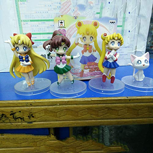 ZDYHBFE Sailor Moon Sailor Moon Moon Hare Jupiter PVC Material Anime Figure Model Boxed Toy Gift