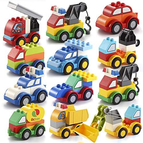 JOYIN Building Blocks Build Your Own Toy Cars Set Building Bricks Cute Different Vehicles for Kids