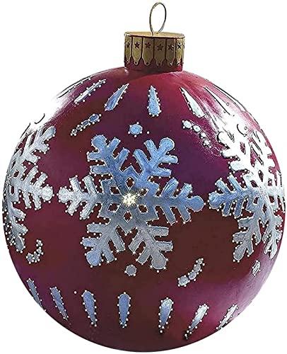 23,6-Zoll-Weihnachten im Freien PVC Aufblasbare verzierte kugel, riesige weihnachten blasen bälle ornamente, weihnachten aufblasbare bälle, feiertag aufblasbare bälle dekoration ( Style : Colonial )