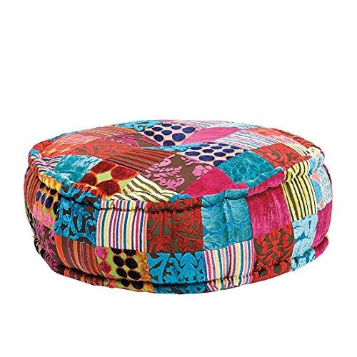 Kare Sitzkissen Patchwork 'Velvet Round', 59 cm, mehrfarbig
