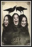 Heart Rock Licensed Flagge Ozzy Osbourne–Three Faces, Stoff, Mehrfarbig, 110x 75x 0,1cm