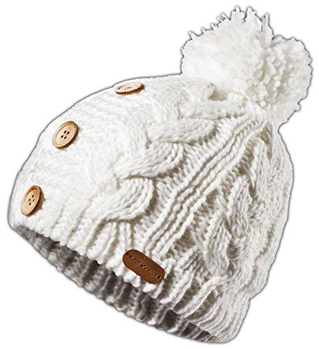 Black Crevice Bonnet tricoté pour Femme Blanc Taille Unique