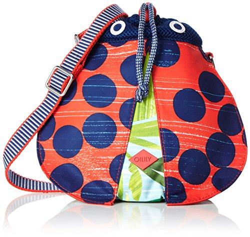 Oilily Mädchen Ladybug Shoulder Bag OES7160 Rucksack, Grün (Leaf 732)