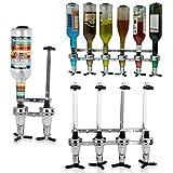 4/6 Bottles Wine Dispenser Wall Mounted Liquor Dispenser Beverage Bottle Stand Liquor Dispenser (6-Bottle)