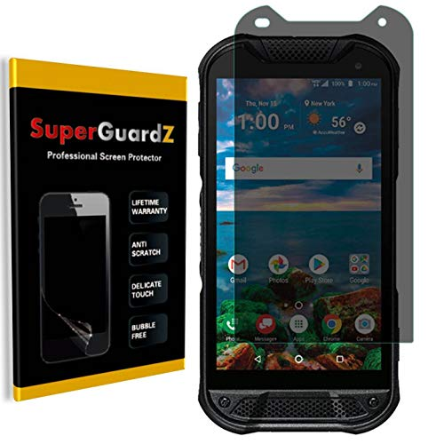 for Kyocera DuraForce Pro 2 (2nd Gen) Screen Protector [Privacy Anti-Spy], SuperGuardZ, Anti-Glare, Anti-Scratch, Anti-Bubble [Lifetime Replacement]