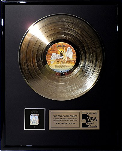 Led Zeppelin - The Song Remains The Same goldene Schallplatte gold record