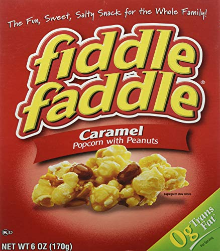 Buy Fiddle Faddle Caramel Popcorn With Peanuts, 6 Oz (Pack of 2) - SET OF 2