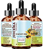 CACAY OIL 100% Pure Natural Virgin Unrefined Anti Aging Anti Wrinkle with natural Retinol, Vitamin A, E for FACE, HAIR, BODY and NAILS CARE 0.5 Fl.oz.- 15 ml by Juiceika