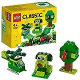 LEGO Classic - Ladrillos Creativos Verdes, Set de Construcción con Ladrillos de Colores de Juguete para Desarrollar la Imaginación (11007)