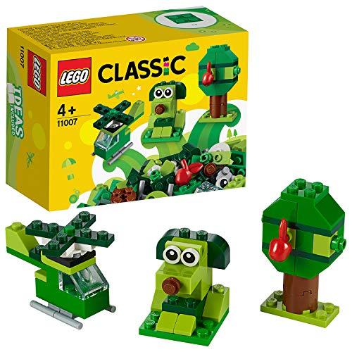 LEGOClassicMattonciniVerdiCreativi,GiocattoliperBambinidai4Anniinsu,IntroduzioneaiSetLEGO,11007