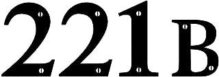 CCI 221B Sherlock Holmes Decal Vinyl Sticker|Cars Trucks Vans Walls Laptop| Black |5.5 x 2.25 in|CCI1382