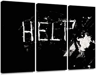 Help Print On Canvas Wall Artwork Modern Photography Home Decor Unique Pattern Stretched and Framed 3 Piece