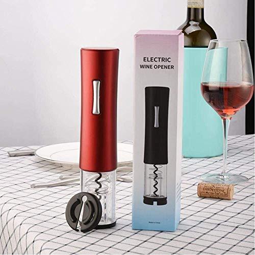 YYhkeby Abrelatas eléctrico del Vino Rojo de la Hoja de Corte automático abrebotellas Jar abridor de Cocina Accesorios de la Barra de Seguridad Duradero Botella abridor Jialele (Color : Red)
