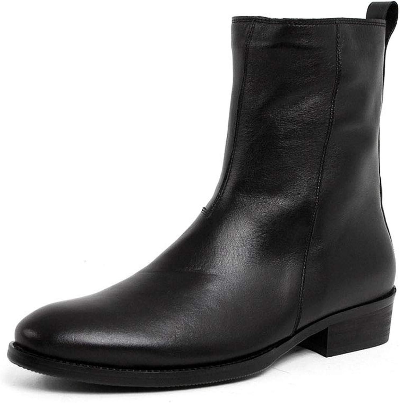 WHL.LL WHL.LL WHL.LL männens spetsiga skor i mitten av tuben non -Slip High Help Cotton Boots Side Zipper Tjock Heel Martin Boots Leisure Knight Boots  kom att välja din egen sportstil