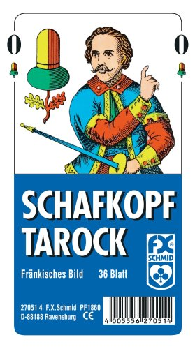 Ravensburger 27051 - Schafkopf/Tarot, Fränkisches Bild - 36 Blatt, glasklares Etui