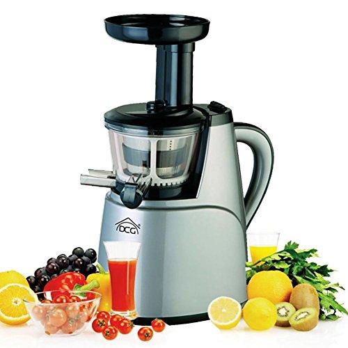 Centrifuga a Freddo Silver Estrattore di Succo Spremiagrumi Frutta e Verdure Vitamine Estrazione a Bassa Velocità, 80 giri al minuto, DCG AE-2130 colore Silver