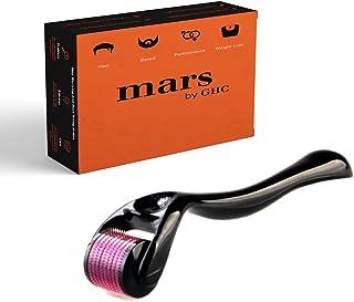 mars by GHC Premium Derma Roller With 0.5mm 540 Titanium Alloy Micro Needles Hair & Beard Follicle Stimulation, Treats Acn...