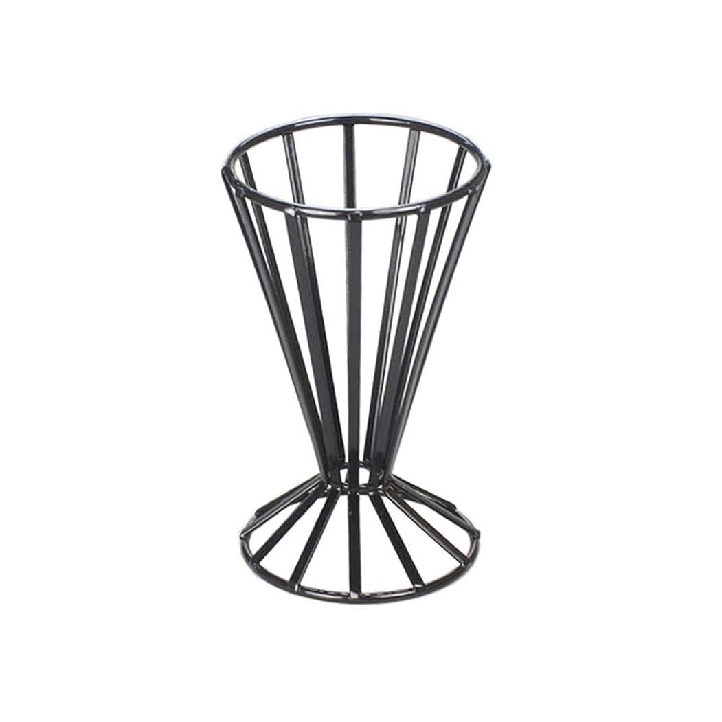 遮る着服部分BESTONZON 金属フライドポテトスタンドコーンスナックホルダー金属線バスケットフライドチキンディスプレイラック