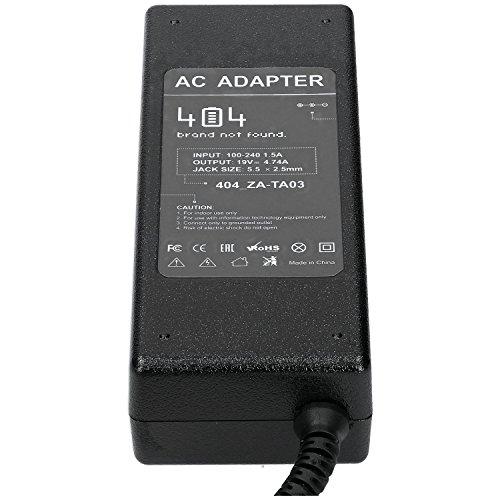 Wessper Laptop Netzteil für Toshiba Satellite S1135-S1551 (19V, 4.74A, 90W, 5.5-2.5mm) ohne Netzkabel