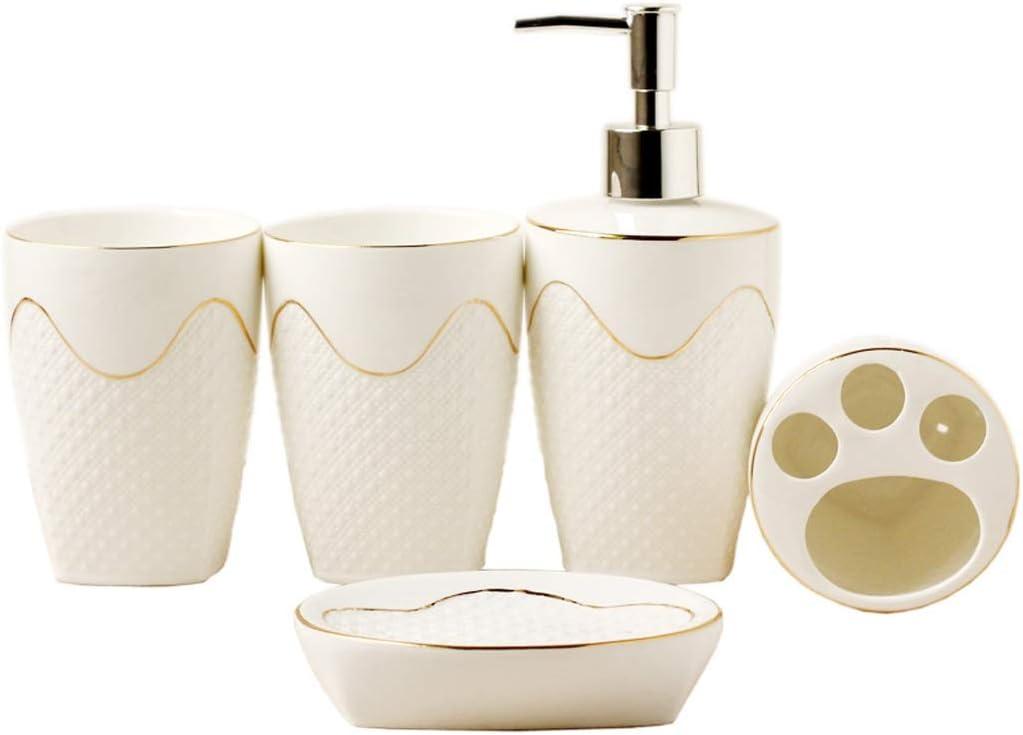 VREF Countertop Bathroom Accessories Embossed Inventory cleanup selling sale Set Portland Mall European Ceram