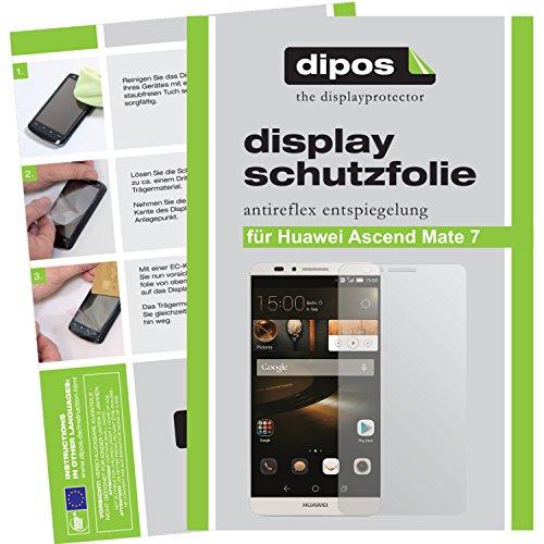 dipos I 2X Schutzfolie matt kompatibel mit Huawei Ascend Mate 7 Folie Bildschirmschutzfolie