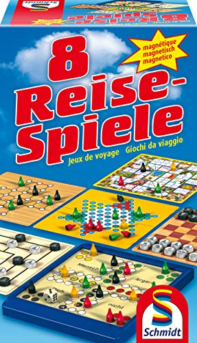 Preisvergleich Produktbild Schmidt Spiele 49102 - 8 Reise-Spiele,  Spielesammlung,  magnetisch