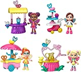 Fisher-Price Nickelodeon Butterbean's Café Fairy Friends Figure Pack Gift Set with 4 Figures, 4 Carts and Food Accessories