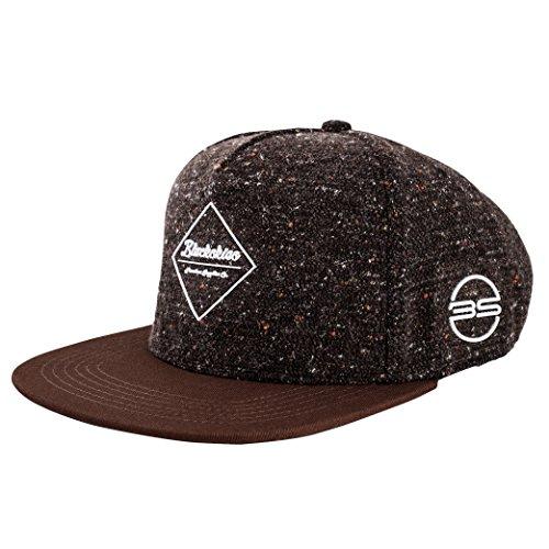 Blackskies Osiris Snapback Cap |Negro Marrón Escudo Gorra de béisbol Premium Unisex Lana