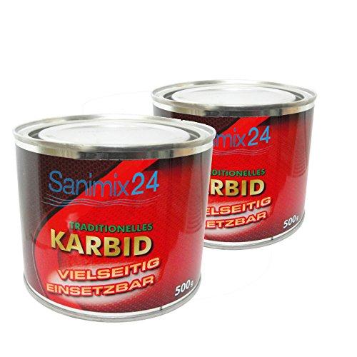 Sanimix24 1Kg Karbid ALT BEWÄHRT & ERGIEBIG große Stücke für langanhaltende Wirkung und hohe Gasentwicklung für Karbidlampen Karbidschweißen usw. - 24h SOFORTVERSAND - Carbid Calciumkarbid