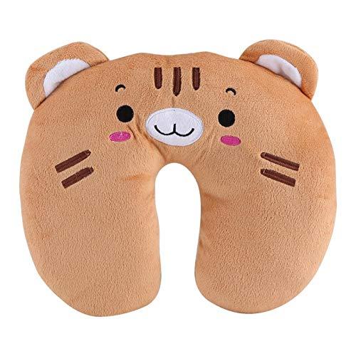 Tiffasha Comfort Cuscino per Il Collo Traspirante - Cuscino da Viaggio Morbido in Cotone PP a Forma di U Cuscino Giocattolo per Il Riposo degli Animali Cuscini Portatili Supporto per Il Collo(Tiger)
