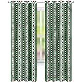 Cortina opaca para ventana con líneas geométricas verticales...