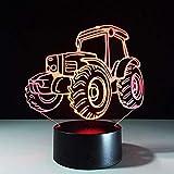 Lampe d'illusion de veilleuse 3D lampe intelligente tracteur veilleuse batterie externe USB lampe éclairage pour sous les armoires de cuisine lumières avec capteur de mouvement