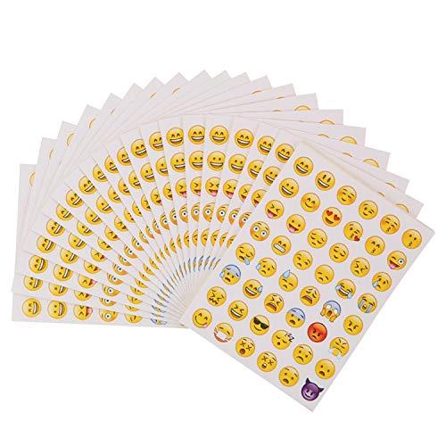 Pegatinas Emoji 40 hojas Pegatina Emoticon Pegatina de Risa Amarillo Pequeño para Pared Portátil Fiesta Decoración y Como Recompensa para Niños