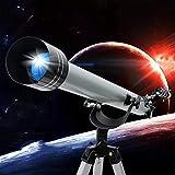 Telescopio de viaje para observar las estrellas para adultos, telescopio para principiantes de astronomía, telescopios refractores de apertura de 70 mm, trípode y visor buscador, telescopio portátil