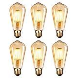 LED Lampadina Vintage Edison 6W 220V E27 2600-2700K 400LM Edison lampadina Vintage Retro S...