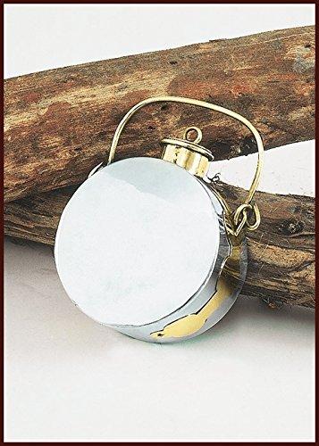 Battle Merchant Cantimplora Romano (laguncula), Acero y latón 1,5litros Botella Larp Medieval Vikingo Almacenamiento
