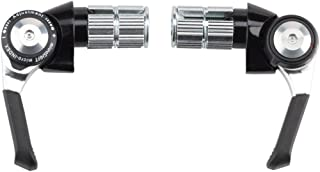 microSHIFT Bar End Shifter Set, 8-Speed Road, Double/Triple, Shimano Compatible, Black