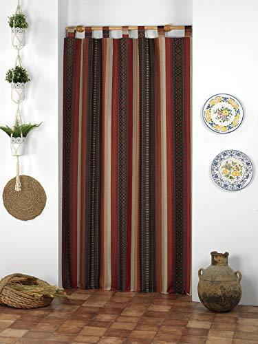 Martina Home Típica Cortina Alpujarra, Único, 140 x 260 cm