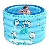 Piscina Inflable para Bebés Bañera Plegable Sala De Aislamiento Doméstico Bañera Redonda De Gran Tamaño para Niños De 1 A 3 Años Sin Fugas (Color : Blue, Size : 100 * 75cm)