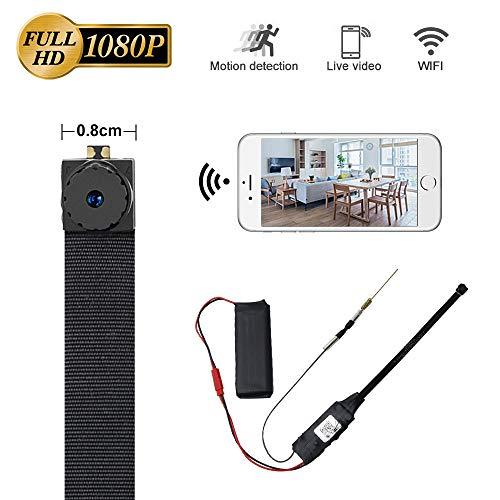 LXMIMI Mini Kamera WLAN, 1080P HD Mini Kamera, Kompaktes Design Minikamera, Super Mini Größe Kleine Kamera zum Tragen mit Bewegungserkennung Modus