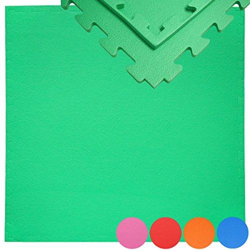 EYEPOWER 90x90 Gymnastikmatte mit Rand - 12mm Bodenmatte - Unendlich erweiterbare Bodenschutzmatte