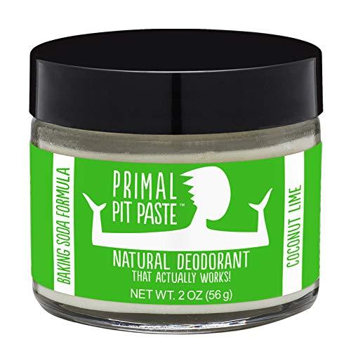 Primal Pit Paste All-Natural Deodorant - Aluminum & Paraben Free - Coconut Lime Deodorant Jar
